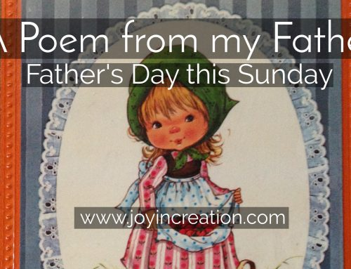 A poem from my father – Father's Day this Sunday