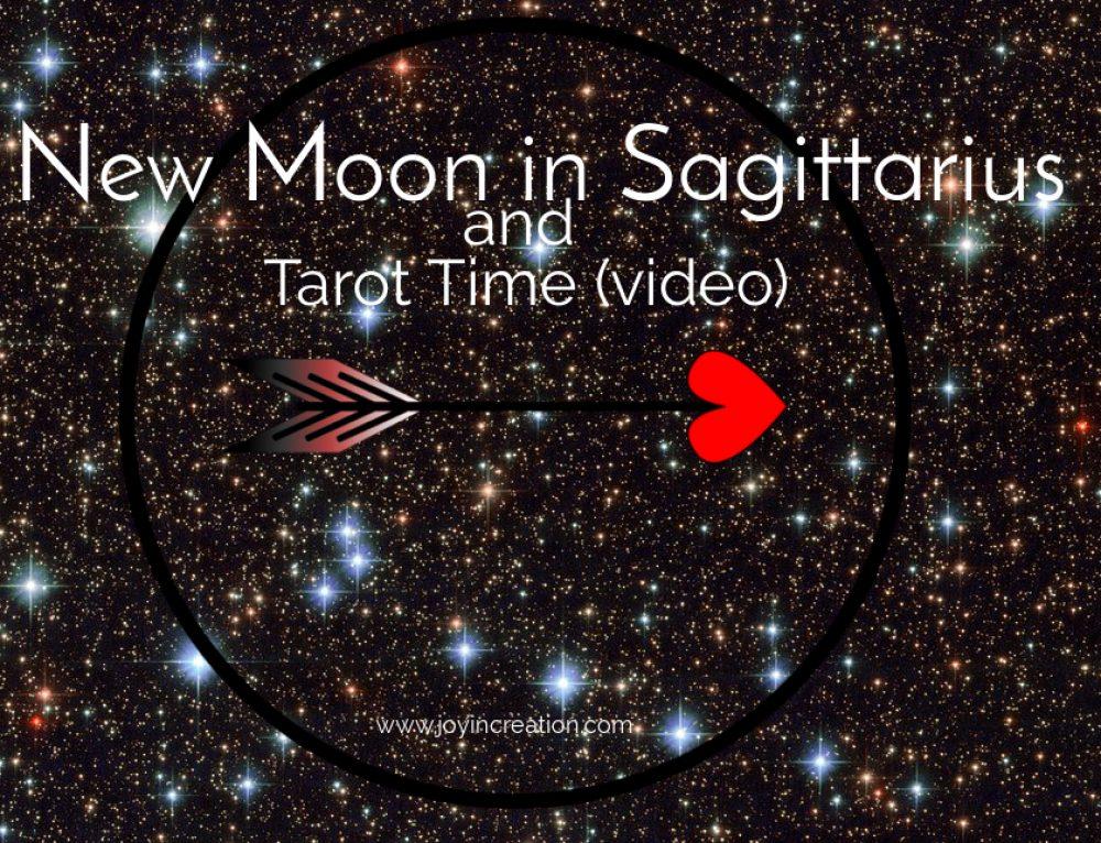 New Moon in Sagittarius and Tarot Time (video in Dutch)